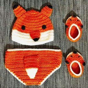 """FOX"" Newborn Knit Picture Outfit"